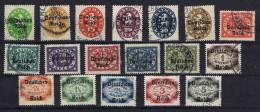 Deutschland: Dt. Reich.  Mi Dienstmarken 34-51, Used/ Cancelled - Dienstzegels