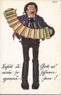 5568 - Larme à L'Oeil Joueur D'accordéon - Musique