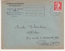 FLAMME DE FONTENAY LE COMTE - VENDEE - FOIRE EXPO 1960 - Marcophilie (Lettres)