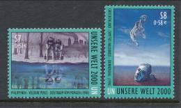 UN Vienna 2000 Michel # 307-308, MNH ** - Wien - Internationales Zentrum