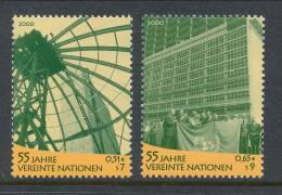 UN Vienna 2000 Michel # 309-310, MNH ** - Wien - Internationales Zentrum