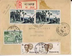 Pli Affranchi à BETAFO Madagascar   Expédié à  Isigny Sur Mer Recommandé - Madagascar (1889-1960)
