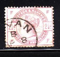 Great Britain Used Scott #101 2 1/2p Victoria, Lilac Position FF - Short Perfs - 1840-1901 (Victoria)