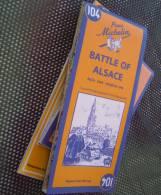 Carte De La Bataille D'Alsace 1944 à 1945 Battle Of Alsace (reprint Of 1947 Map) - 1939-45