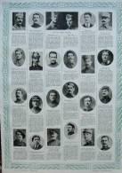 Tableau D´Honneur 293 / 294 Au Verso - Audema - Nicolétis - Caubel - Chalvet - Alcay - Ponsar -  Page Original 1916 - Documents Historiques