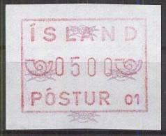 ISLAND 1983 MI-NR. Automatenmarke 1.1.1 ** MNH (99) - Vignettes D'affranchissement (Frama)