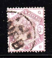 Great Britain Used Scott #102 3p Victoria, Lilac Position QB - 1840-1901 (Victoria)