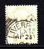 Great Britain Used Scott #103 4p Victoria, Green Position LB - Oblitérés