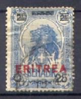 Eritrea 1924 Sass.84 Usato/Used VF/F - Eritrea