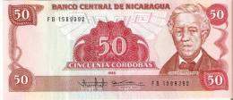 BILLETE DE NICARAGUA DE 50 CORDOBAS DEL AÑO 1985  (BANK NOTE) - Nicaragua