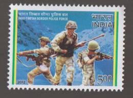 India-Tibet Border Police With Weapon, Mountain, Job,  MNH India - Police - Gendarmerie