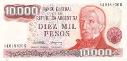 BILLETE DE ARGENTINA DE 10000 PESOS  (BANKNOTE-BANK NOTE) - Argentina