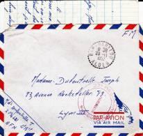 1957 - ENVELOPPE FM Par AVION Du 27° REGIMENT De DRAGONS De BABALOU ALGER - Postmark Collection (Covers)