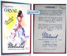 Les PARFUMS ORVAL De { MOLINARD  } - Perfume Cards