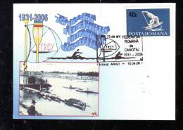 CANOE,SPECIAL COVER,2006,ROMANIA - Kano