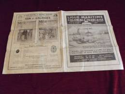 PUBLICITE LIGUE MARITIME ET COLONIALE FRANCAISE 1925 - Sonstige