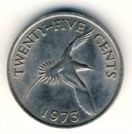 1973 Bermuda Twentyfive Cents In EF Condition, Albatros - Bermuda
