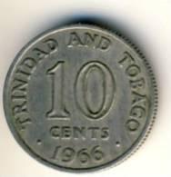 1966 Trinidad & Tobago 10 Cents In EF Condition - Trinidad & Tobago