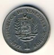 1977 Venezuela One Bolivar In EF Condition - Venezuela
