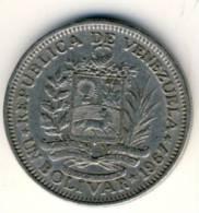 1967 Venezuela One Balboa Coin In Very Nice Condition - Venezuela