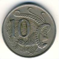 1967 Australia 10 Cent Coin In Excellent Condition ,Peacock - Decimal Coinage (1966-...)