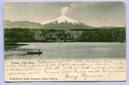 Vintage Card Volcan Vulkan Villa Rica Um 1905 (403) - Chile
