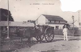 21191 Quatre 4 Cpa Madacascar. Attention Abimée, Timbre Découpé ! Majunga, Tombereau Municipal, Miadiana, Betsimisaraka - Madagascar