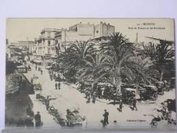 TUNISIE - BIZERTE - RUE DE FRANCE ET DE BARCELONE - ANIMEE - Tunisia