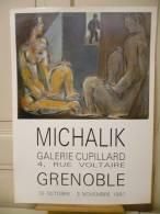 MICHALIK,  Nu, Couple.  Affiche De Galerie. 1991,  Parfaitement Neuve. - Unclassified