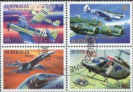 Australia 1996 Military Aviation Block Of 4 CTO - Militaria