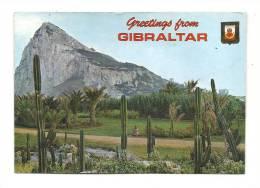 Cp, Gibraltar, Rock Of Gibraltar From Spain, Voyagée - Gibraltar