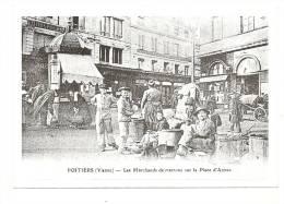 Publicité, Avis Immobilier, Poitiers (86) - Les Marchands De Marrons Sur La Place D'Armes (Reproduction) - Pubblicitari