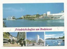 Cp, Allemagne, Friedrichschafen Am Bodensee, Multi-Vues, Voyagée - Friedrichshafen