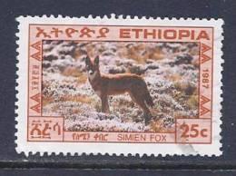 Ethiopia, Scott # 1182 Used Simien Fox, 1987 - Ethiopie