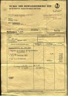 1966 Qittung Zwickau - Von VE Bau- Und Montagekombinat Süd - Glaserarbeiten 9,- Mark - Deutschland