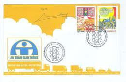 Vietnam: Safety Traffic - 2011 - FDC Withdrawn Stamps - Signning Of The Designed Artist - Motos