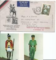 1980 Maratha Light Infantry 7th Postwar Reuion FDI Postmark Stamp On Front, To Australia & Postcard & Booklet - FDC