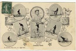 Carte Postale Ancienne Connaux - A. Doré Cycliste - Vélo, Spectacle, équilibriste - France