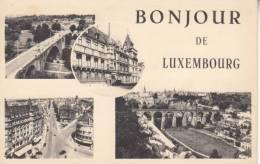 -LUSSEMBURGO LUXEMBOURG - BONJOUR DE LUXEMBOURG VG 1950 BELLA FOTO D´EPOCA ORIGINALE 100% - Cartoline