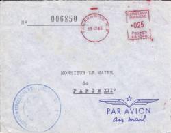 MADAGASCAR - 1962 - ENVELOPPE du CONSULAT de FRANCE � TANANARIVE