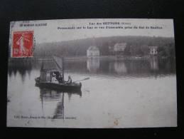 CP Carte Postale Le Morvan Illustré Lac Des Settons (Nièvre) Promenade Sur Le Lac Animée Barque (4) - Otros Municipios