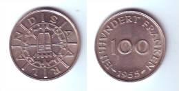 Saarland 100 Francs 1955 - Saar