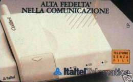 *ITALIA: ITALTEL - TELEFONO SENZA FILI* - Scheda SIP Usata - Pubbliche Speciali O Commemorative