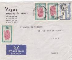 Tres Beau Devant De Lettre CONGO BELGE, 1960, KOLWEZI Pour LYON/1421. - Belgisch-Kongo