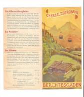 DEPLIANT AVEC PLAN AU DOS : OBERSALZBERGBAHN - BERCHTESGADEN  - AUTRICHE - - Technical Plans