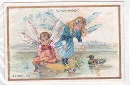21204 Chromo A Farradesche Dorée Bon Marché Paris - Libellules Anthropomorphisme Jeu Enfant Fillette Garçonnet Insecte - Au Bon Marché