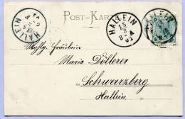 Grusspostkarte HALLEIN Loco 1901 (409) - Briefe U. Dokumente