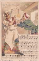 """21213. Chanson """"La Mere Michel"""" - 4 Sujet  2ieme Couplet ; Cuisinier - Chromos"""