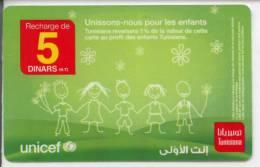 Unicef -carte Prépayée (Tunisiana) - Tunisie