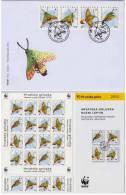 CROATIA  WWF FAUNA CROATIAN GOLUPKA MOTH NIGHT BUTTERFLY  SHEET + FDC + SERIES OF STAMPS AND SPECIAL PROSPECTUS 2012 - W.W.F.